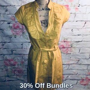 Anthropologie :: Mustard Jacket Dress by Tabitha